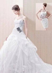 Свадебное платье пышное трансформер