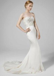 Свадебное платье с иллюзией открытых плеч