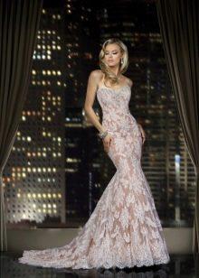 Свадебное платье русалка кружевное