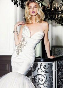 Свадебное платье русалка модное