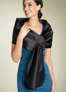 Вечернее платье с палантином