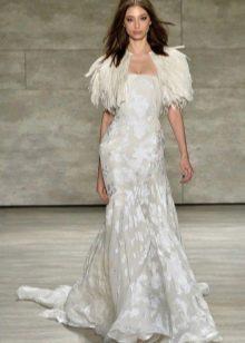 Болеро из перьев для вечернего платья