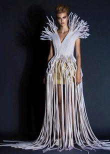 Необычное вечернее платье от Jean Louis Sabaji длинное