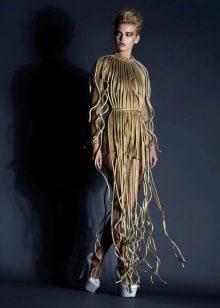 Необычное вечернее платье от Jean Louis Sabaji в пол