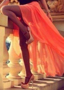 Подходящие туфли к оранжевому платью