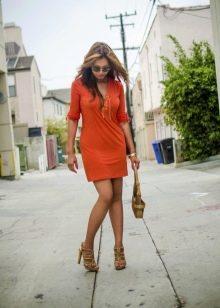 Туфли для оранжевого платья