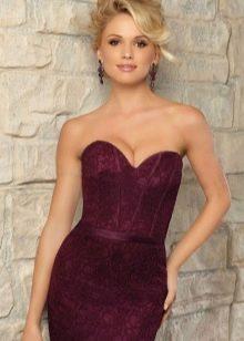 Макияж под платье цвета баклажан