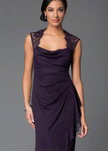 Баклажановый цвет платья