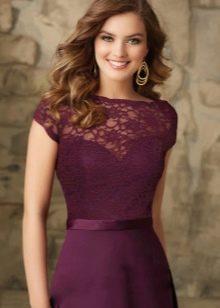 Макияж под платье баклажанового цвета