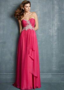 Вечернее длинное платье цвета фуксии