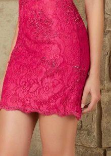 Короткое платье цвета фуксии