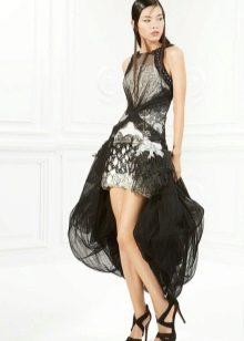 Платье короткое спереди длинное сзади из шифона