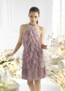 Коктейльное платье из шифона футляр