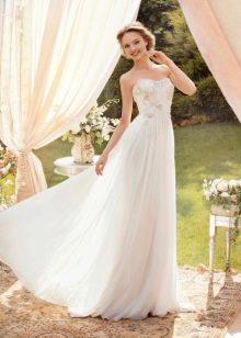 Свадебное платье из шифона прямое