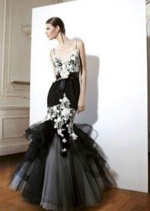 Шифоновое платье русалка