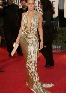 Дженифер Лопес в золотом платье