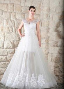 Свадебное платье от Тани Григ  с прозрачной юбкой