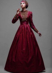 Свадебный хиджаб от Тулипии красный