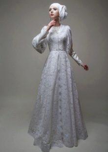 Свадебный хиджаб от Тулипии кружевной