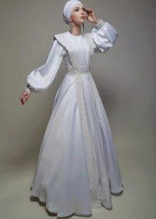 Мусульманское свадебное платье от бренда Тулипия