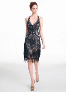 Вечернее платье с бахромой от Аир Барселона