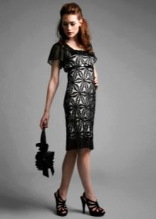 Платье вечернее вязанное крючком