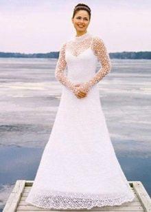 Вязаное платье а-силуэта