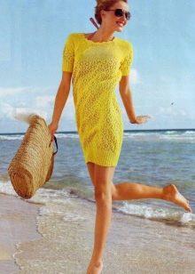 летнее платье вязаное спицами