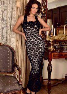 Вязаное платье сарафан
