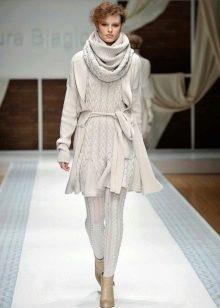 Платье связанное на спицах