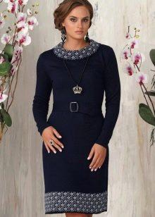e5bc0ab38ec8a57 Вязаные платья: крючком, спицами, длинные и короткие, с чем носить ...