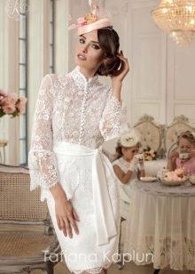 Короткое свадебное платье от Татьяны Каплун из коллекции Lady of quality кружевное