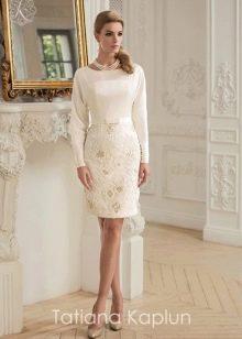 Короткое свадебное платье от Татьяны Каплун из коллекции Lady of quality закрытое