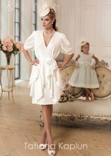 Короткое свадебное платье от Татьяны Каплун из коллекции Lady of quality с оборками