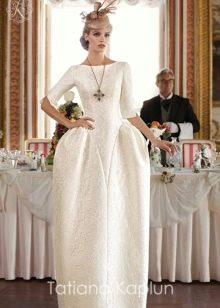 Свадебное платье от Татьяны Каплун из коллекции Lady of quality сложного кроя