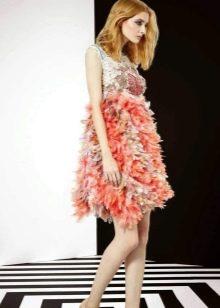 Цветное коктейльное платье