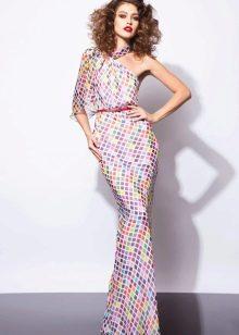 Цветное платье рыбка