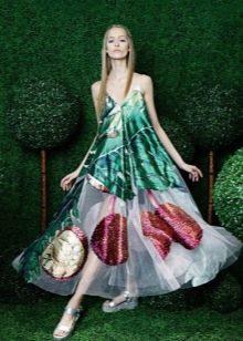 Платье-мешок цветное