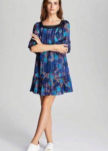 Платье-туника цветное