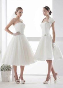 Пышные платья миди