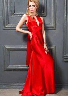 Алое красное платье