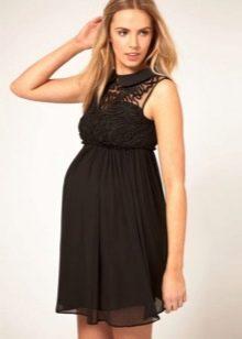 Черное короткое платье для беременных