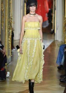Желтое платье от Ульяны Сергеенко весна 2016
