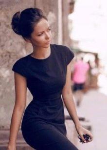 Прическа под офисное платье - пучок