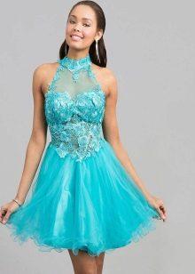 Короткое платье цвета морской волны для девушек