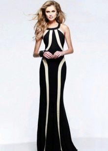 Вечернее двухцветное платье
