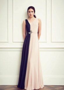 Платье двухцветное сине-розовое