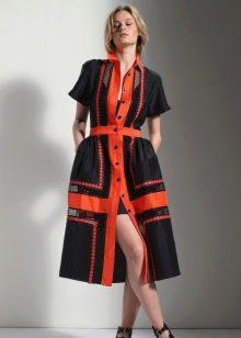 Платье колор-блок