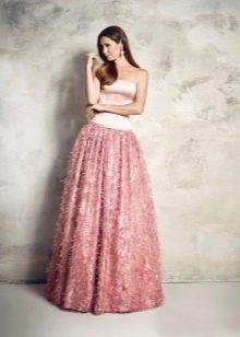 Пышное двухцветное платье