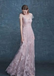 Вечернее платье из органзы и кружева